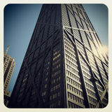 约翰・汉考克大厦在芝加哥 库存照片