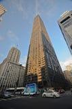 约翰・汉考克大厦在街市芝加哥 免版税库存照片
