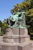 约翰・沃尔夫冈・冯・歌德雕象。维也纳,奥地利 库存照片
