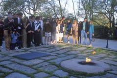 约翰・肯尼迪坟墓 肯尼迪,阿灵顿公墓,华盛顿, D C 免版税图库摄影