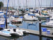 约翰・韦恩小游艇船坞在华盛顿州 库存图片