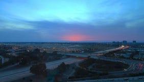 约翰・韦恩机场鸟瞰图在橘郡 库存照片