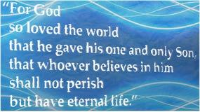 约翰3:16 免版税库存照片
