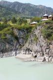 约翰Bogoslov修道院在拔摩岛海岛, Chemal村庄,俄罗斯上的 图库摄影