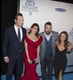 约翰Corbett、Nia Vardalos, Joey Fatone和Gia Carides 库存照片