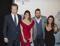 约翰Corbett、Nia Vardalos, Joey Fatone和Gia Carides 免版税库存图片