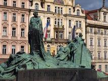 约翰Hus的纪念碑 免版税图库摄影