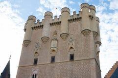 约翰II塔,塞戈维亚城堡  免版税库存图片