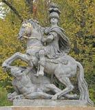 约翰III Sobieski国王纪念碑在Lazienki公园,华沙 图库摄影