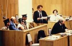 约翰Ivan Demjanjuk和迈克尔Shaked 免版税库存照片