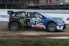 约翰Kristoffersson 巴塞罗那FIA世界Rallycross冠军 免版税库存图片