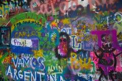 约翰Lennon墙壁在布拉格 库存照片