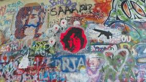 约翰lennon墙壁 免版税库存图片