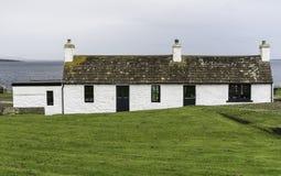 约翰o `少量的一个白色门面房子 免版税库存照片