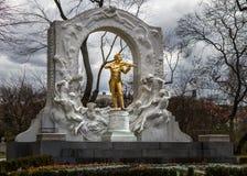 约翰strauss雕象,维也纳 免版税库存图片