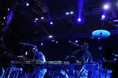 约翰Talabot带执行在圣米格尔Primavera声音节日 免版税库存照片