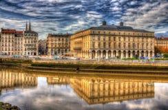 巴约讷市政厅-法国 库存照片