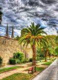 巴约讷-法国的城市庭院 库存图片