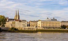 巴约讷-法国的看法 免版税图库摄影