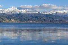 约阿尼纳湖和Pindus山,伊庇鲁斯同盟 图库摄影