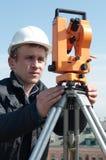 级别测量员运输 免版税库存图片