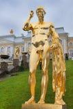 级联全部pertergof彼得斯堡圣徒 免版税库存图片
