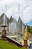 级联喷泉 库存图片