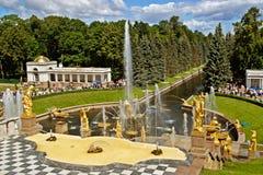 级联的喷泉 免版税库存照片