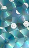 级联的cds 库存图片