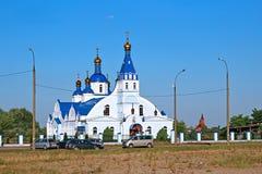 以纪念上帝的母亲的Tikhvin象的教会 免版税库存图片