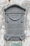 以纪念伊曼努尔Kant的一块匾 免版税库存照片