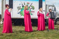 以纪念俄罗斯的解放的536 Th周年的节日音乐会从蒙古鞑靼人的轭的在卡卢加州地区 库存照片