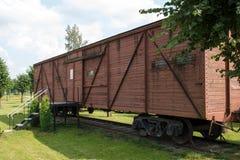 纪念博物馆无盖货车 库存照片