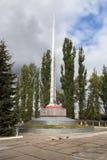 纪念品下落的战士巨大爱国战争 钓鱼者 俄国 免版税库存图片