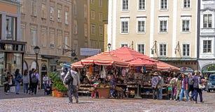 纪念品和礼品店在萨尔茨堡,奥地利 免版税库存照片