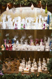 纪念品和首饰圣诞节商店在Sainte-Andr镇在匈牙利 免版税库存照片
