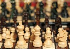 纪念品国际象棋棋局 免版税库存图片