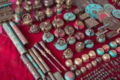 纪念品在印地安市场上 免版税库存照片