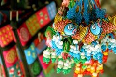 纪念品在市场上,越南的旅游首都 库存图片
