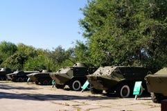 纪念品在胜利的公园 俄国 秋天城市全景萨拉托夫视图 库存照片