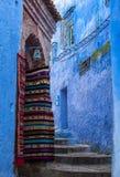 纪念品在舍夫沙万,摩洛哥麦地那  免版税库存照片