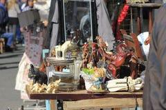 纪念品在贾法角耶路撒冷旧城 免版税库存照片