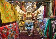 纪念品店在主要市场上在吉隆坡 免版税库存照片