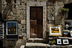 纪念品店在圣吉米尼亚诺托斯卡纳 免版税库存图片