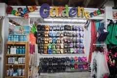 纪念品店在基韦斯特岛 免版税图库摄影