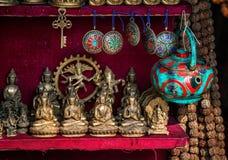 纪念品店在尼泊尔 免版税库存图片
