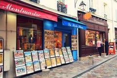 纪念品店在巴黎 免版税库存照片