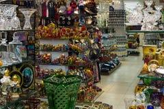 纪念品店在布拉格的中心 库存照片
