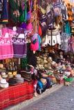 纪念品店在科帕卡巴纳,玻利维亚 库存照片