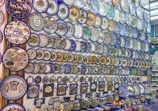纪念品店在耶路撒冷,以色列 免版税库存照片